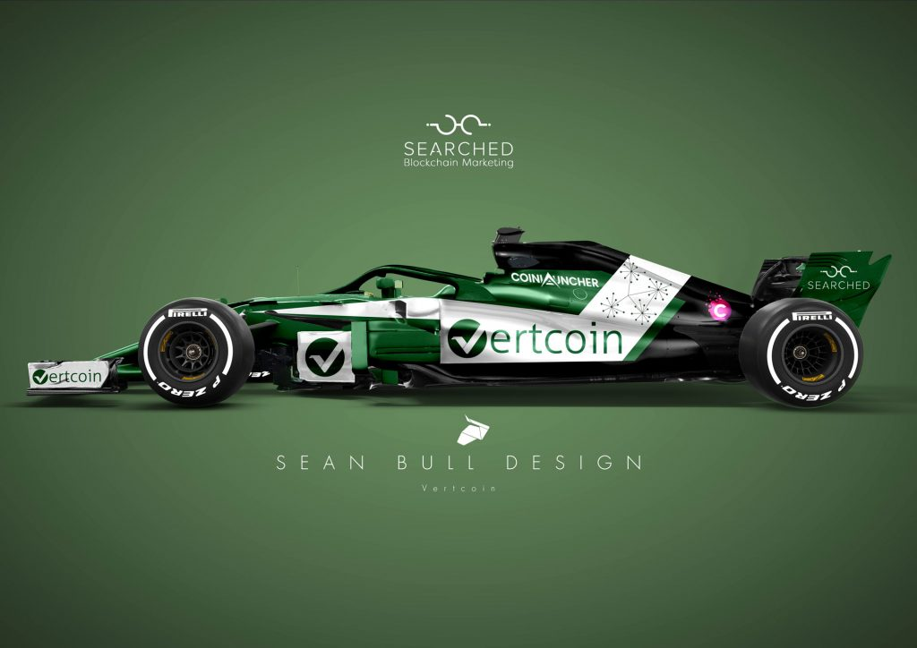 Blockchain advertising disruption - Vertcoin F1 car by Searched.io