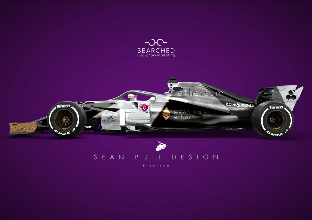 Blockchain advertising disruption - Ethereum F1 car by Searched.io