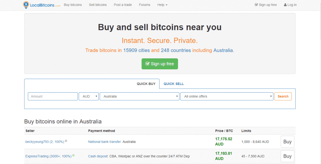 Local Bitcoins Cryptocurrency Exchange - Best for Anonymity and Privacy