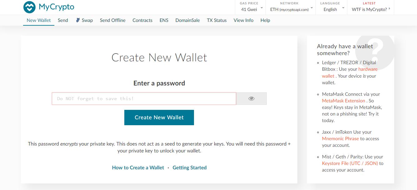 MyCrypto Ethereum Wallet