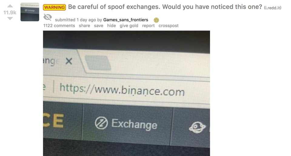 How to spot a Binance scam