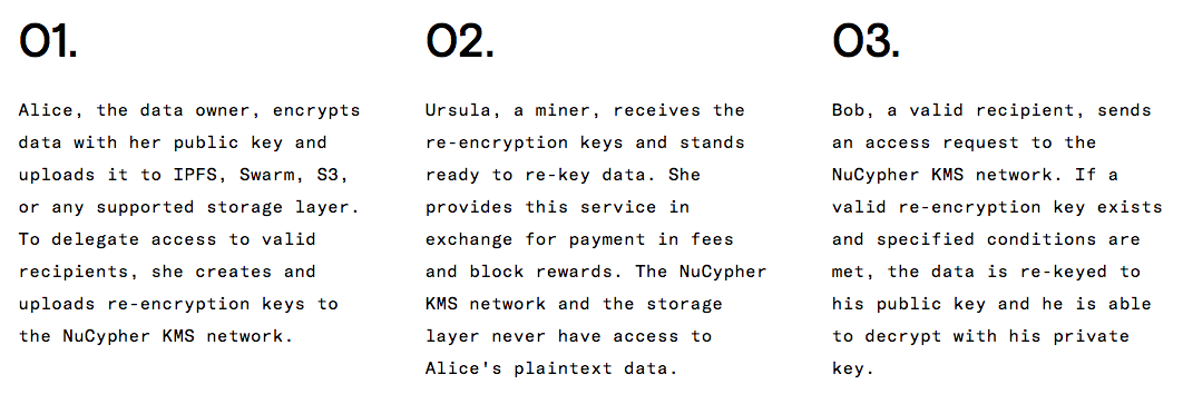 Encrypted Data Exchange - NuCypher ICO from whitepaper