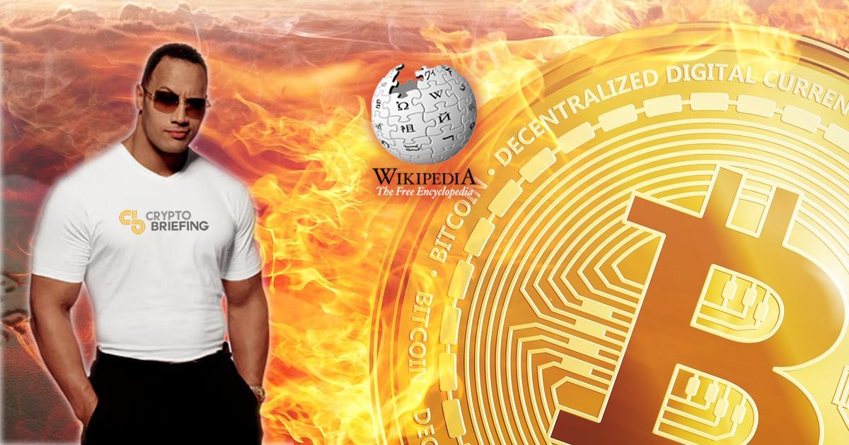 dwayne johnson bitcoin