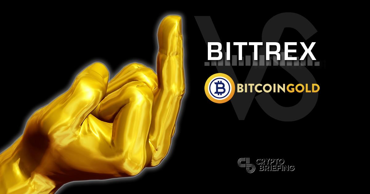 bitcoin gold bitttrex trading