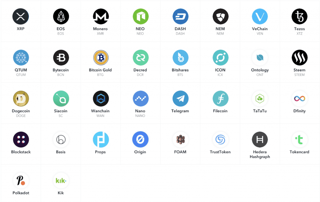 Coinbase custody service uses XRP logo here but Ripple logo in recent addition to service