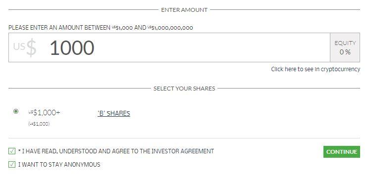 anonymous investment in kraken