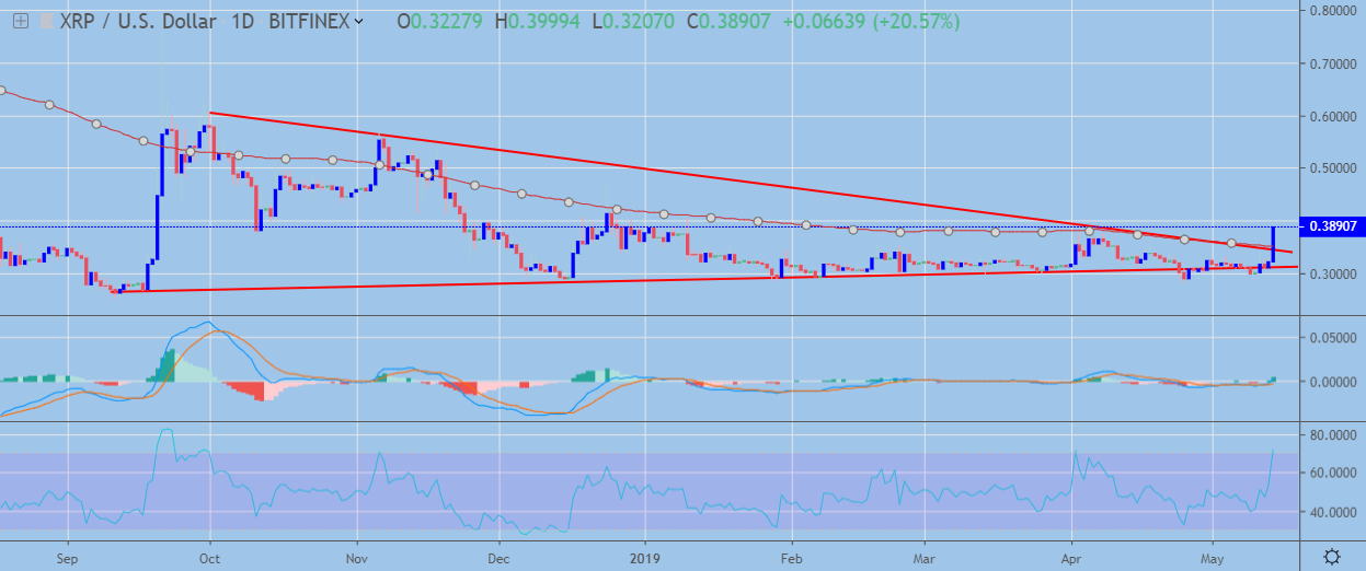 XRP Daily Chart May 14, powered by Trading View