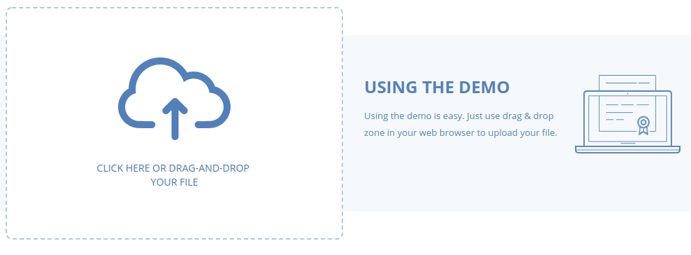 The Acronis file notarization demo