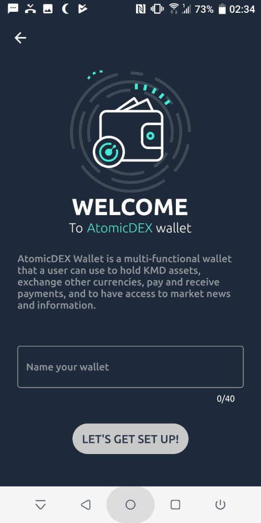Welcome to AtomicDEX wallet