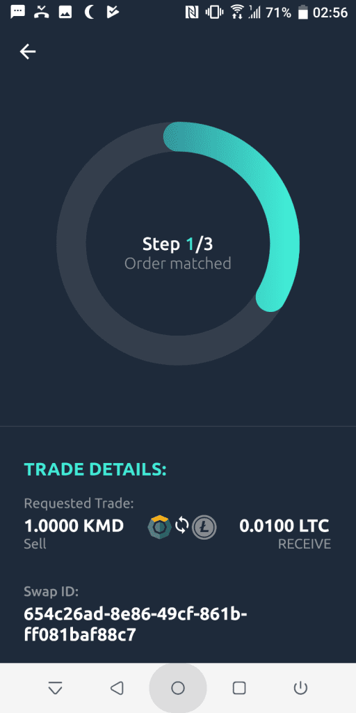 Initiating a trade on AtomicDEX
