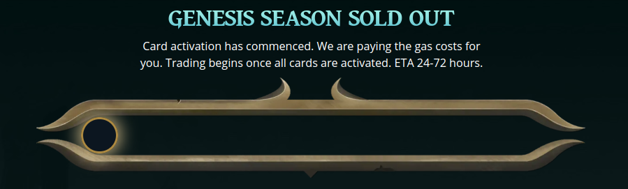 Genesis Card Pack Sold Out!