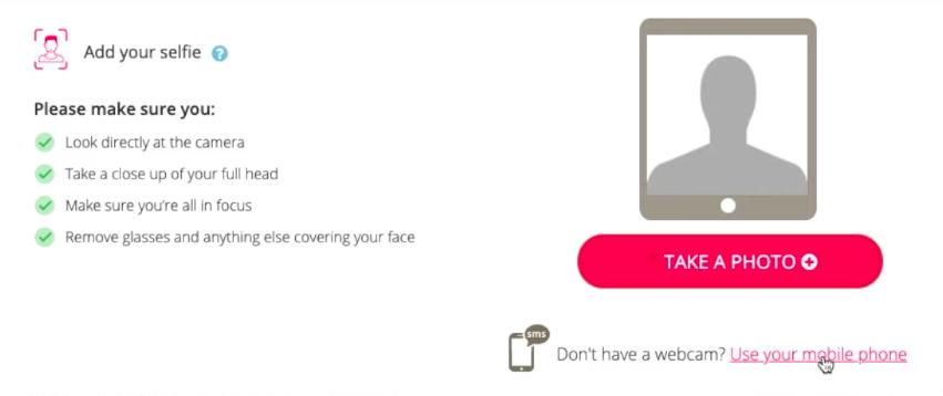 Voice photo requirements screenshot
