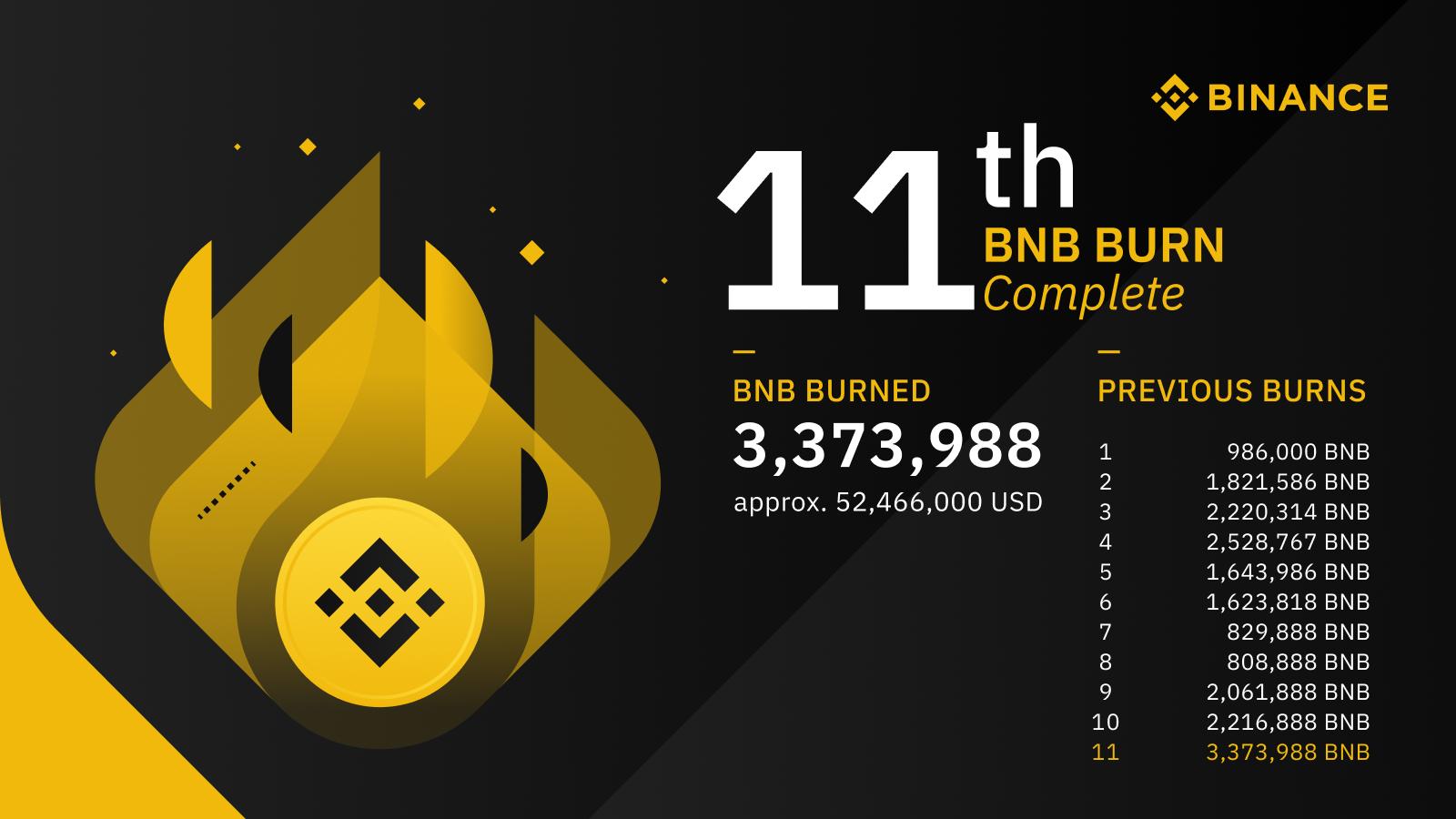BNB 11 quarterly burns graphic