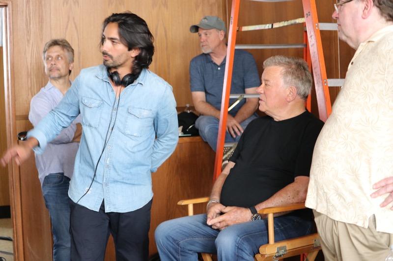Haider Rafique on set with William Shatner image
