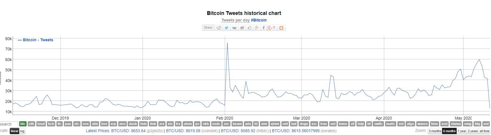 Bitcoin Tweets, 6 Months