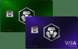 Royal Indigo / Jade Green MCO Visa Card by Crypto.com