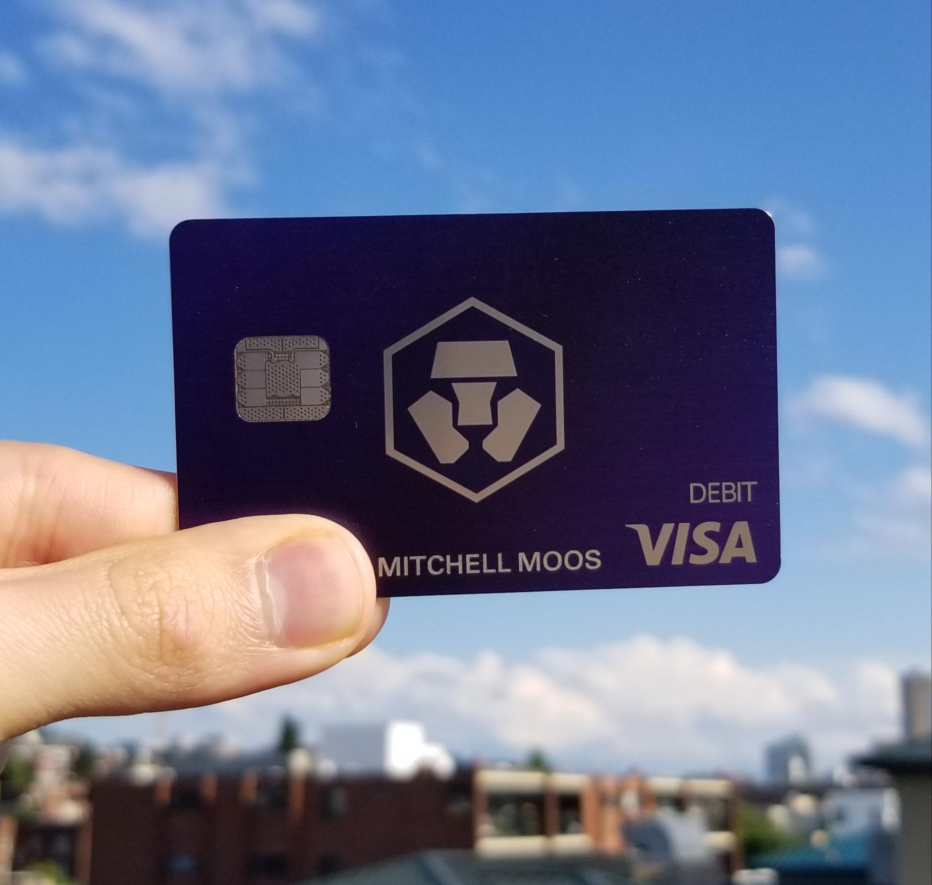 Crypto.com's Royal Indigo MCO Visa Card