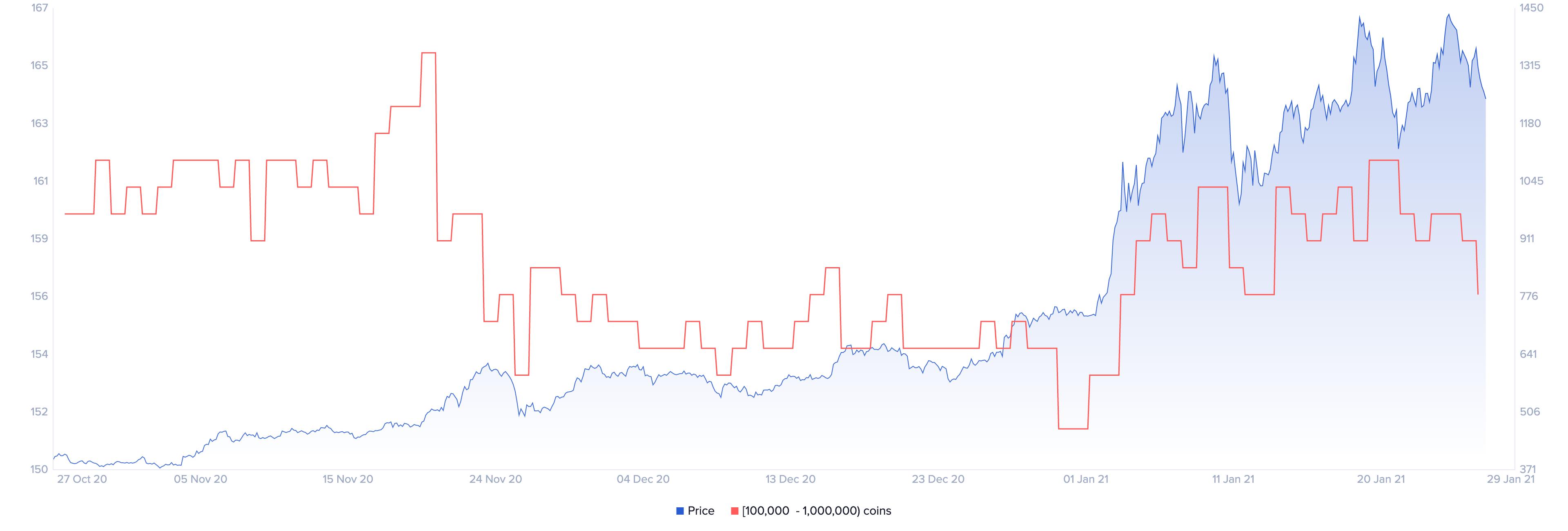 Ethereum Holders Distribution by Santiment