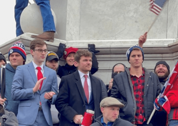Nick Feuntes at Capitol Hill. Source: Twitter