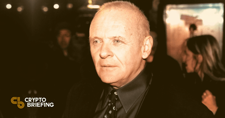 Anthony Hopkins Will Star in NFT-Based Tech Thriller   Crypto Briefing