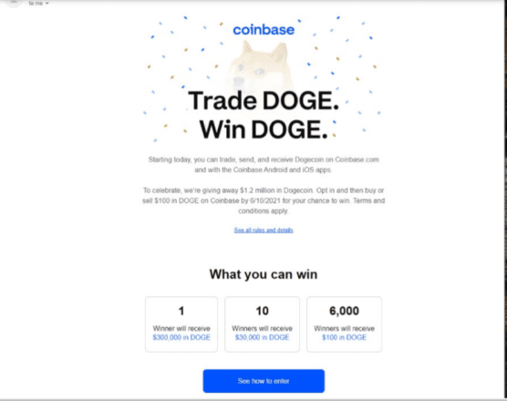 """Coinbase Sued Over """"Deceptive"""" Dogecoin Campaign   Crypto Briefing"""