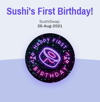 Sushi POAP